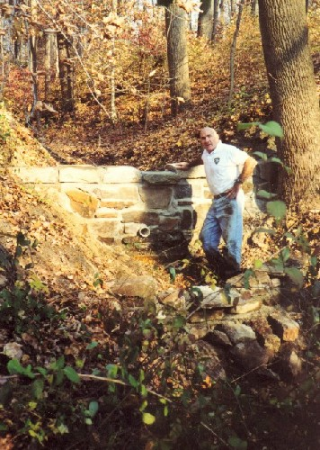 Dan Bevilacqua (pictured) and brother Bob rebuilt the Glen Dam in 2001.