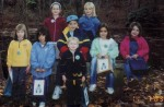 November 2003: A group of scouts on a nature hike pauses at Dilk's Pond on North Jefferson Avenue.