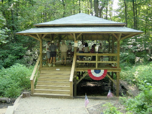 Re-opening celebration for the Tea House: July 4th, 2002.