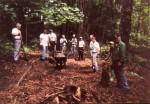 March, 2001: volunteers unearth the adjacent Amphitheatre.