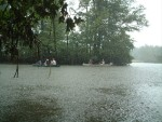 Mantua Creek boat trip: a quick soaking courtesy of Mother Nature!