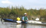 Paula Hayes shows off her kayak prowess.