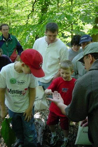 2004 Kids' Hike: Beetle discovery!