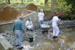 From our November 5th Work Party: ten more tons of stone to move, and backfill dirt, too!