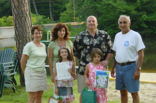 2005 Kids poetry and drawing contest winners being recognized during the June 8th WEC meeting at Wenonah Lake.