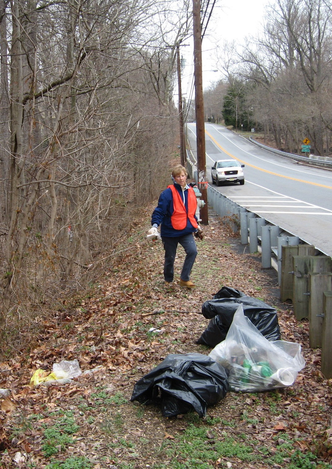 Bonnie Bell helps cover our 3/4 mile section of roadway from Mantua Avenue to Bark Bridge Road.