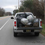 This is just half of the trash we collected from Woodbury-Glassboro Road in a few hours!