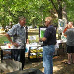 Harvest Craft Fair: WEC chairman Rich Dilks (left).