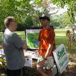 Harvest Craft Fair: Chris Newman, the WEC's rain barrel expert.