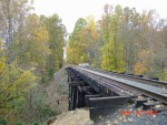 Mantua Creek railroad trestle.