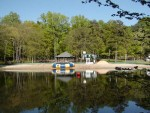 Beach and pavilion area at Wenonah Lake.