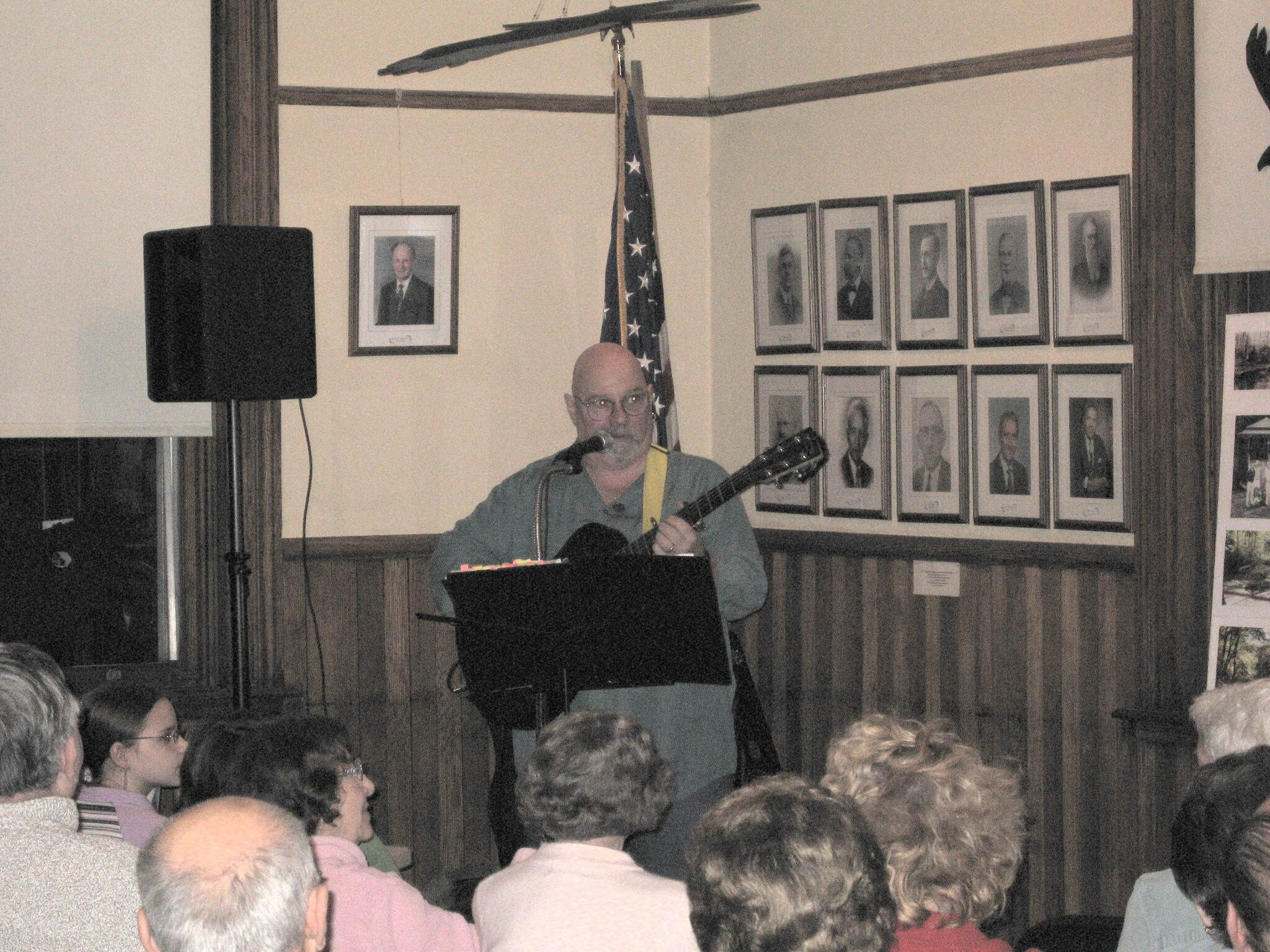 Singer-songwriter Jim Six, the headline entertainment of the evening.