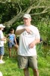 Bill Schramm guides a July 4th hike on the Mantua Creek Trail.