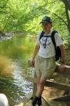 Frank Eggert, Senior Trailmaster, shown at Clay Hill along the Mantua Creek Trail.