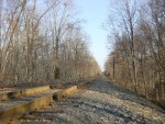 The railroad, looking north from the Mantua Creek Trestle
